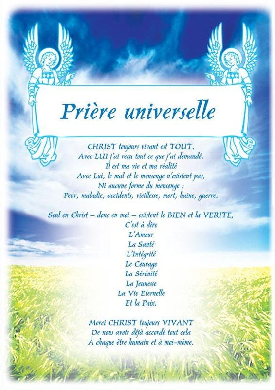 prire universelle - Refrain Prire Universelle Mariage